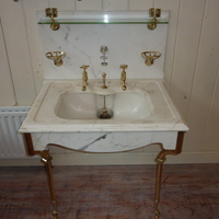 Edwardian Marble Vanity Basin by Shanks & Co. C.1900