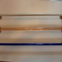 3No. Antique Glass Towel Rails C.1930