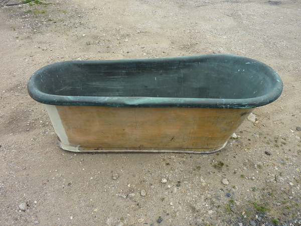 Large French Copper Bath C.1850