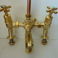 Art Deco Bath/Shower Mixer Tap by SHANKS C.1930
