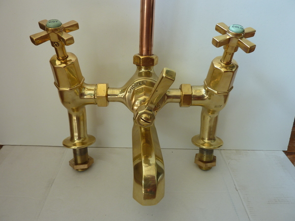 Art Deco Bath/Shower Mixer Tap by SHANKS C.1930
