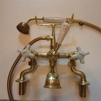 Edwardian Bath/Shower Mixer with Porcelain Handles