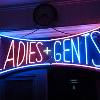 "Vintage US Neon ""Ladies & Gents"" Sign C.1960"