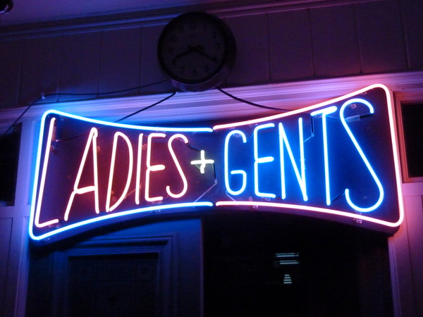 "Vintage US Neon ""Ladies & Gents"" Sign C.1960"