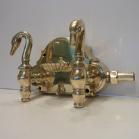 Rare French Swan Bath Taps C.1900